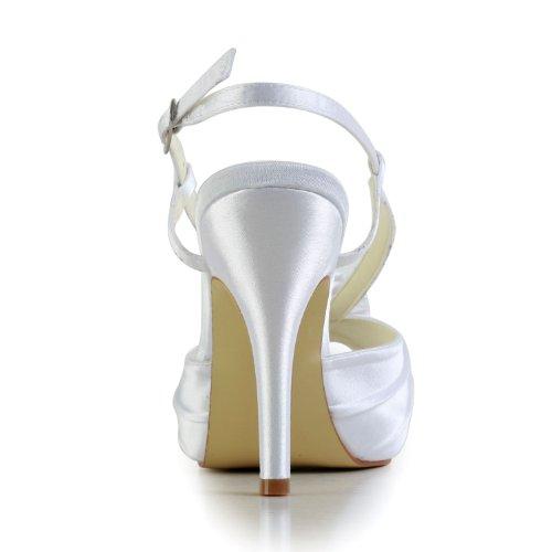 Jia Jia Wedding 37047 chaussures de mariée mariage Escarpins pour femme blanc, EU 38