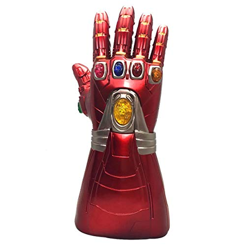 XXF Iron Man Infinity Gauntlet,Iron Man Infinity Glove led Stone Light Up Halloween Party for