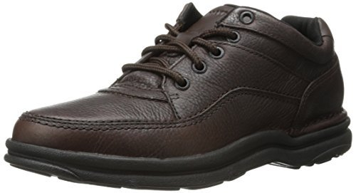 Rockport Men's World Tour Classic Walking Shoes,Dark Brown Tumbled Leather,9 M US