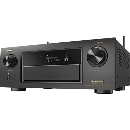 Denon AVR-X6400H HEOS 11.2 Network, Multi Room Audio Technology, Dolby Atmos, Bluetooth-WiFi In-Command 4K Ultar HD AV Receiver with Automatic Stereo Turntable and a Pair of Generic HDMI Cables