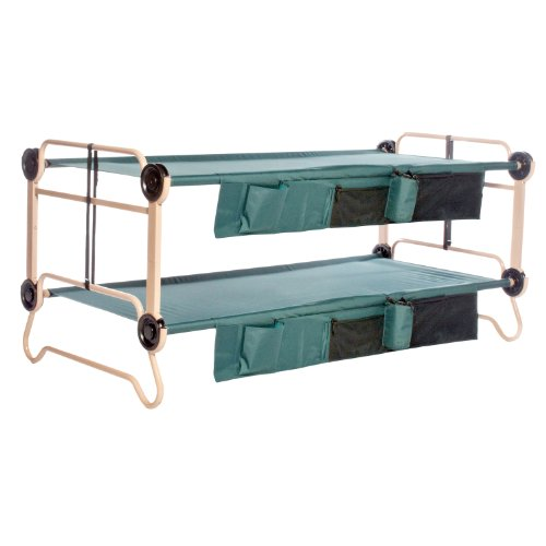 Disc-O-Bed Cam-O-Bunk with Organizer, Tan/Green, X-Large, Outdoor Stuffs