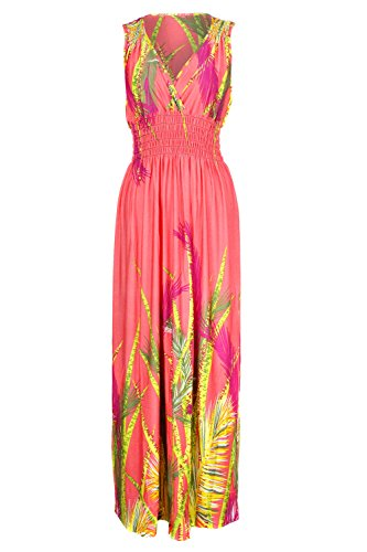 orange halter maxi dress - 2