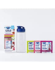 Tetley Cold Infusions Starter Kit with Water Bottle and 3 Cold Brew Tea Samplers, 3x2.25g