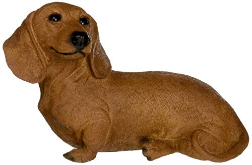 Design Toscano Brown Dachshund Puppy Dog Statue, Multicolored