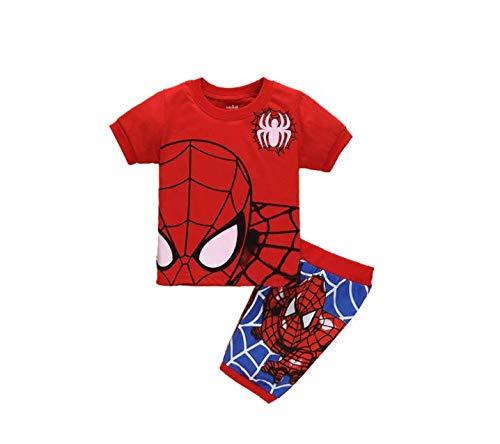 Boys Pajamas 100% Cotton Spiderman Short Kids Snug