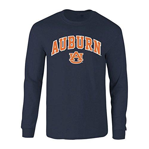 Elite Fan Shop Auburn Tigers Long Sleeve Tshirt Arch Navy - Medium