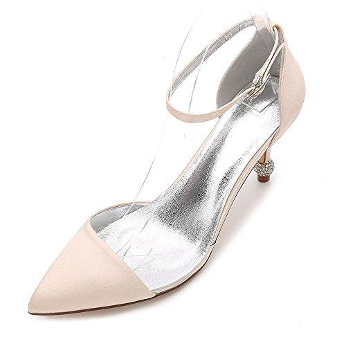 pour femmes aiguille talon Chaussures fermées et champagne avec Zxstz haut 7qxtEHft