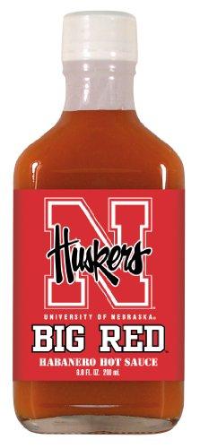 6.6 Ounce Flask (4 Pack NEBRASKA Huskers Hot Sauce 6.6oz Habanero Flask)