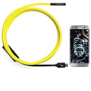 GiraffeCam 1.0 Soft ShortFocus   Endoscope Borescope Inspection Camera   Android PC Mac   5.5mm Diameter   6.5 Feet