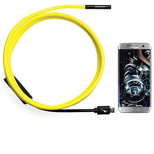 GiraffeCam 1.0 Soft ShortFocus | Endoscope Borescope Inspection Camera | Android PC Mac | 5.5mm Diameter | 6.5 Feet