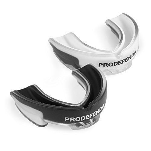 """ProDefenda Mouth Guard, Double-Layered Mouthguard, Easy Custom-Fit with Extra Grip. Breathable Air Channel, Pro-Quality Stylish Protection for Teeth and Gums. Boxing, MMA,Football, Hockey, Multi-Sport from """"ProDefenda"""""""