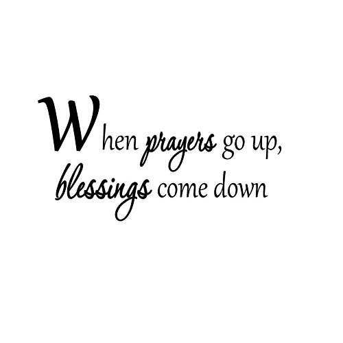 VWAQ When Prayers Go Up, Blessings Come Down. Prayer Wall Decal Home Decor 4449