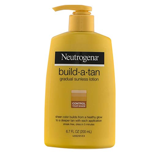 Neutrogena Build-A-Tan Gradual Sunless Tanning, 6.7 Ounce (Pack of 2)