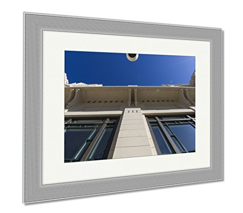 Ashley Framed Prints Bass Performance Hall Fort Worth Tx, Wall Art Home Decoration, Color, 34x40 (frame size), Silver Frame, - Sundance Tx Square