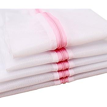 Mayin Set of 5 Mesh Laundry Bags - 1 XX-Large 1 Extra Large, 1 Large, 1 Medium, 1 Small - Premium Quality: Laundry Bag for Blouse, Hosiery, Stocking, Underwear, Bra and Lingerie, Travel Laundry Bag