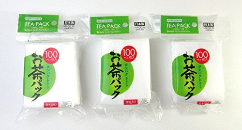 3x100pcs Disposable Filter Bags for Loose Tea -Hard type DAISO