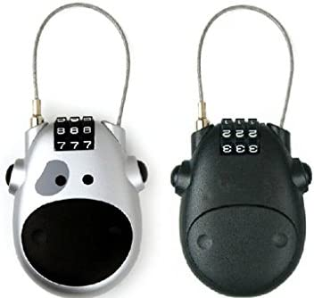cde929f04949 Amazon.com: Fashion Cute Cartoon Cow Retractable Rope Lock Luggage ...