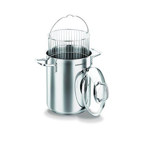 Korkmaz Perla Asparagus Steamer / Vegetable Steamer / Shellfish Steamer Pot Set 18/10 Stainless Steel with Glass Lid