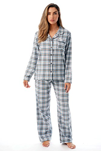 Just Love Long Sleeve Flannel Pajama Sets for Women 6760-10359-GRY-L Grey