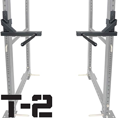 Titan T-2 Series Dip Bar Attachment for Power Rack Strength Training (Best Rack With Dips)