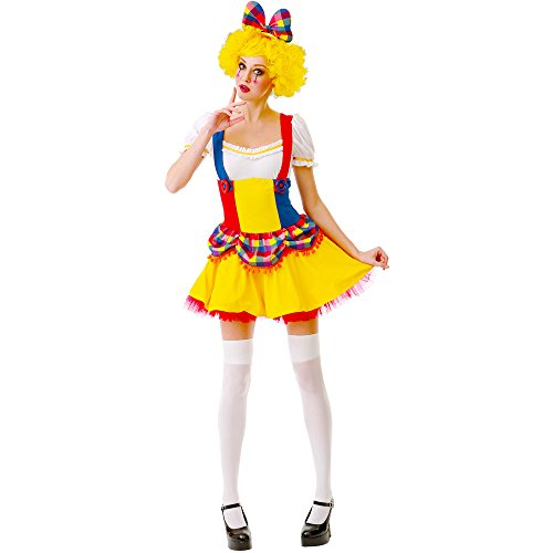 Cutie Clown Women's Halloween Costume Sexy Harlequin Circus Performer Dress]()