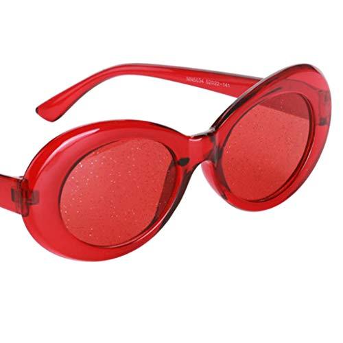 Rétro Protection Transparentes Rouge Lunettes Ovales De De Lunettes Perfeclan Soleil B1ORwAq7