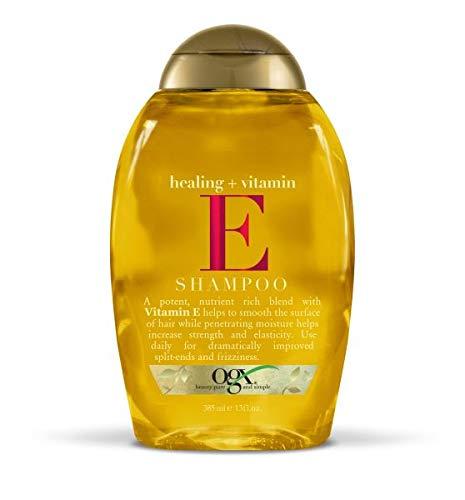 (OGX Shampoo, Healing Plus Vitamin E Shampoo, One Bottle (13 oz), Lightweight and Moisturizing Sulfate Free Surfactants Shampoo)
