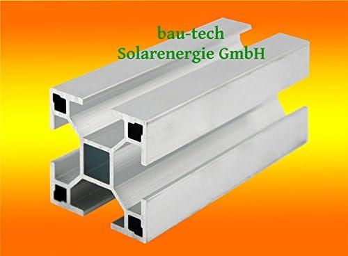 20 Meter Aluprofil Standard 40 x 40mm für Solar-, Photovoltaik- Montage von bau-tech Solarenergie GmbH/Lieferung 10 x 2,0m