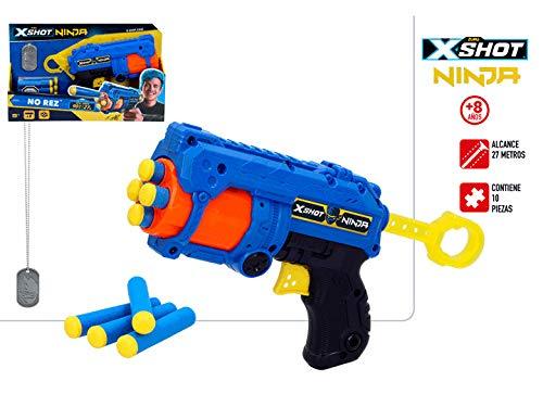 X-Shot Ninja Pistola No Rez con 8 Dardos: Amazon.es ...