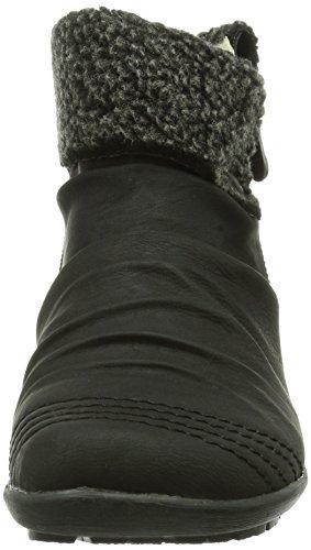 Rieker Z2761-00 Damen Kurzschaft Stiefel Schwarz (schwarz/anthrazit / 00)