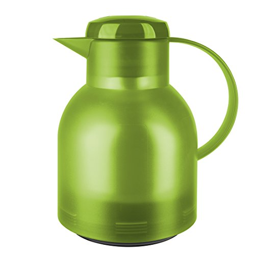 Emsa Samba, Quick Press, Vacuum Insulated Thermal Carafe, 34 oz, Translucent Light Green