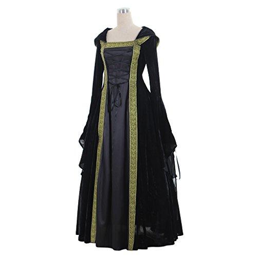 Vestito Di Splendido Nero Da Medievale Cosplayitem Tre Vittoriano Abito Colori Donna Costume Ballo q1z1xAtX