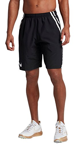NIKE Men's 10'' Dry Untouchable Woven Football Shorts (X-Large, Black) (Football Nike Shorts Men)