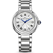 Maurice Lacroix Women's 'Fiaba' Swiss Quartz Stainless Steel Casual Watch, Color:Silver-Toned (Model: FA1007-SS002-110-1)