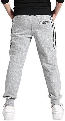 AOWKULAE Kids Fleece Sports Jogger Pants