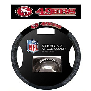 NFL San Francisco 49Ers Poly-Suede Steering Wheel Cover (49ers Steering Wheel compare prices)