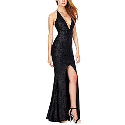 Women's Ball Gown Dresses 1920s Sexy Sling Dress Split Sleeveless Evening Dresses