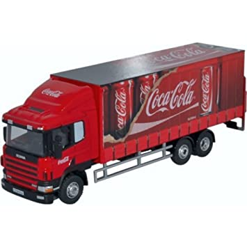 Oxford Scania 94D 6-Wheel Curtainside - Coca Cola: Amazon.es: Juguetes y juegos
