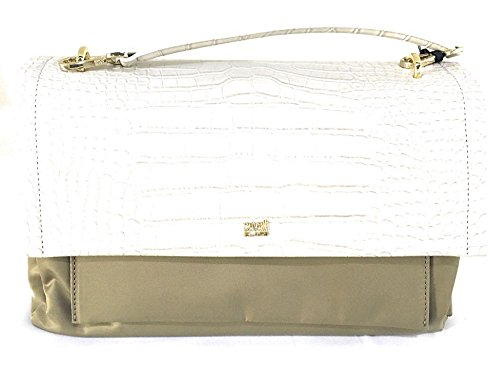 CAVALLI BORSA A MANO BAULETTO MEDIUM SHOULDER BAG AVENUE (OFFWHITE/TAUPE)