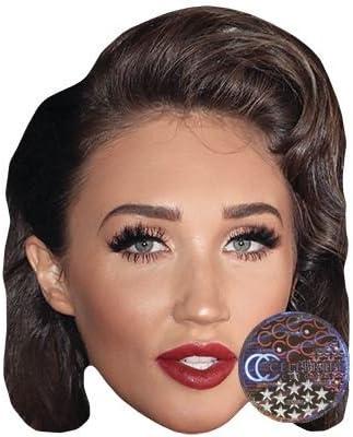 Card Face and Fancy Dress Mask Megan McKenna Celebrity Mask
