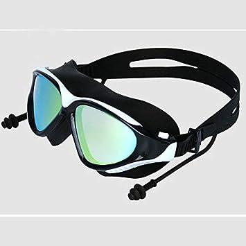 Peanutaso BH007 Adultos Hombres Mujeres Antiniebla Resistente a los Rayos UV Protección al Aire Libre Piscina Interior Cómodos Gafas de Vidrio