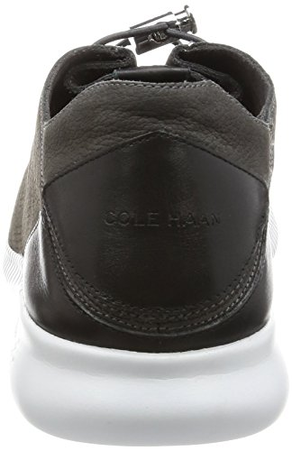 Cole Haan Mujeres Studiogrand P & G Entrenador Moda Sneaker Imán Ocelote Perforado / Negro