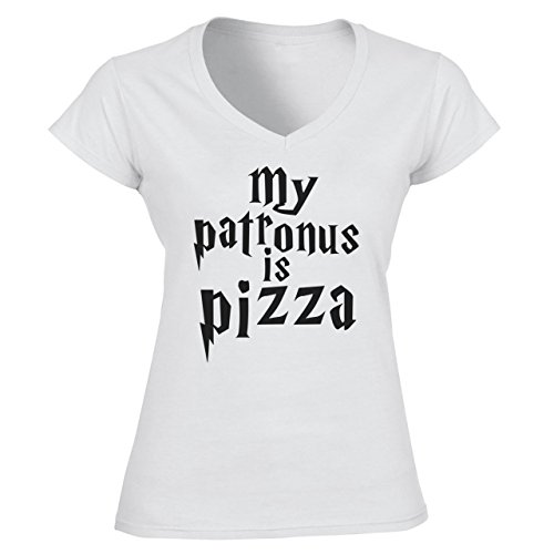 My patronus is pizza Harry Potter Funny Quote Damen V-Neck