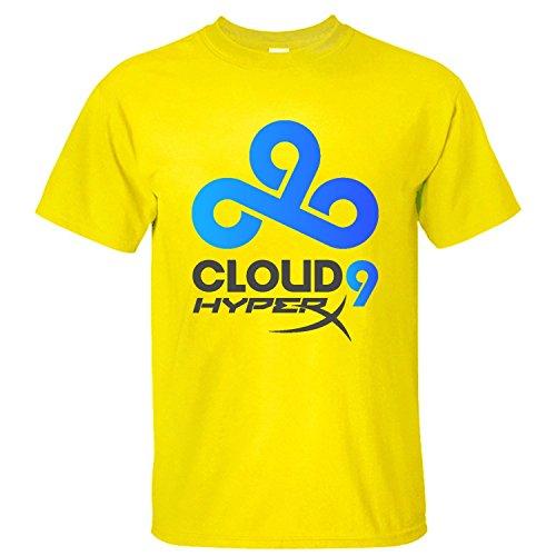 Price comparison product image XTOTO Men's LOL Cloud 9 Hyperx Logo Cool T-shirts yellow XXL
