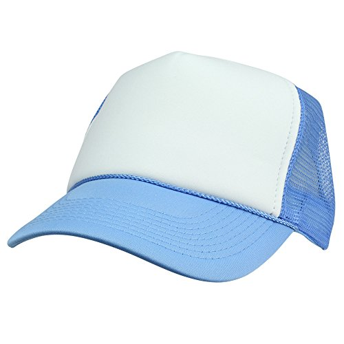 DALIX Two Tone Summer Mesh Cap in Blue and White Trucker Hat
