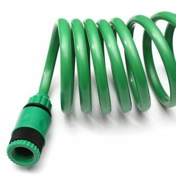 15M EVA Spiralspiralrohr Stretch Gartenschlauch mit D/üse