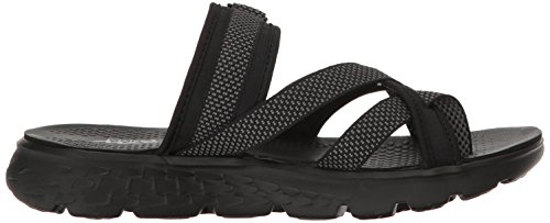 Skechers - Sandalias de vestir para muje Black Grey