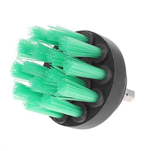 OTGO 1Pc 2''(50mm) Drill Cleaning Brush Heavy Duty with Stiff Bristles for Carpet Car Mats (Green) by OTGO