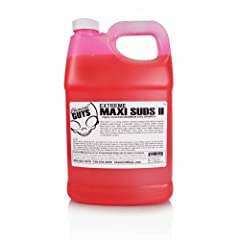 Maxi Suds II pH neutral car wash is ideal for daily wash as well as foam guns and pressure washers. The enticing cherry scented car wash shampoo is pH neutral and highly concentrated. The same professional grade soap used by car washes worldw...