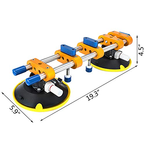 Mophorn Granite Seam Setter 150MM Granite for Joining and Leveling Stone Seam Setter Installation Tools W/6 Inch Suction Cup Handles Seam Setter Countertop Tools for Granite,Slab,Stone by Mophorn (Image #1)